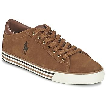 Schoenen Heren Lage sneakers Ralph Lauren HARVEY Cognac