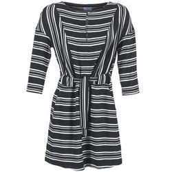 Textiel Dames Korte jurken Loreak Mendian PILI Zwart / Wit