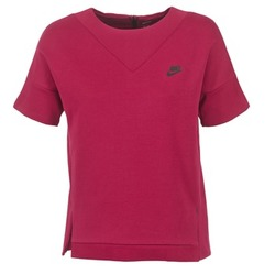 Textiel Dames Sweaters / Sweatshirts Nike TECH FLEECE CREW Bordeaux