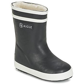Schoenen Kinderen Regenlaarzen Aigle BABY FLAC FUR Marine