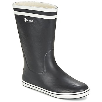 Schoenen Dames Regenlaarzen Aigle MALOUINE FUR Zwart