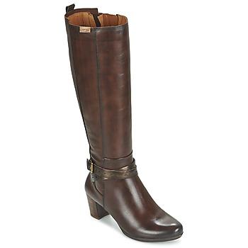 Schoenen Dames Hoge laarzen Pikolinos SEGOVIA W1J Brown