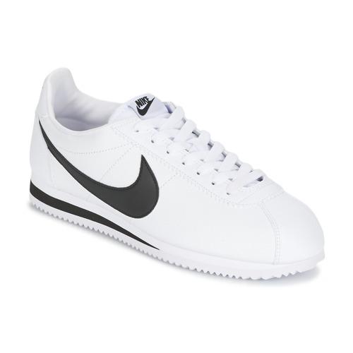 Schoenen Heren Lage sneakers Nike CLASSIC CORTEZ LEATHER Wit / Zwart