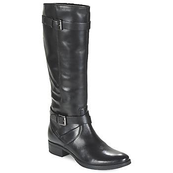 Schoenen Dames Hoge laarzen Geox MENDI ST D Zwart
