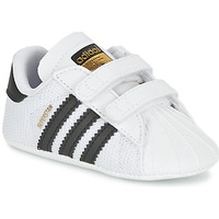 Schoenen Jongens Lage sneakers adidas Originals SUPERSTAR CRIB Wit
