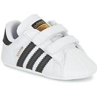 Schoenen Kinderen Lage sneakers adidas Originals SUPERSTAR CRIB Wit