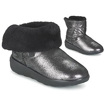 Schoenen Dames Laarzen FitFlop SUPERCUSH MUKLOAFF SHIMMER Zilver