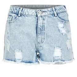 Textiel Dames Korte broeken / Bermuda's Yurban EVANUXE Blauw / Clair