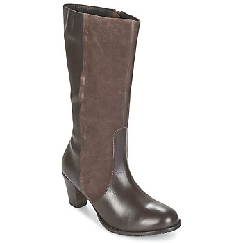 Schoenen Dames Hoge laarzen Hush puppies KATE KORINA Brown