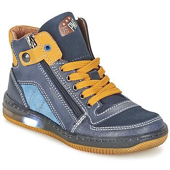 Schoenen Jongens Hoge sneakers Primigi ADAM-E Blauw / Geel