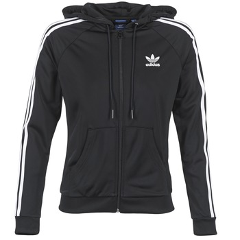 Textiel Dames Trainings jassen adidas Originals SLIM FZ HOODIE Zwart