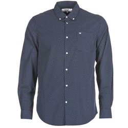 Textiel Heren Overhemden lange mouwen Vicomte A. JANOUPE Marine