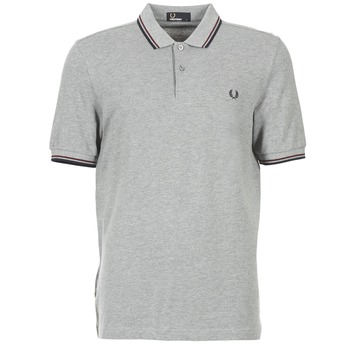 Textiel Heren Polo's korte mouwen Fred Perry TWIN TIPPED SHIRT Grijs
