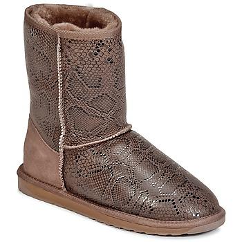 Schoenen Dames Laarzen EMU STINGER PRINT LO Brown