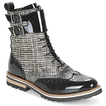 Schoenen Dames Laarzen Regard RIFADO Grijs / Zwart / VERNI