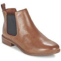 Schoenen Dames Laarzen Clarks TAYLOR SHINE Brown