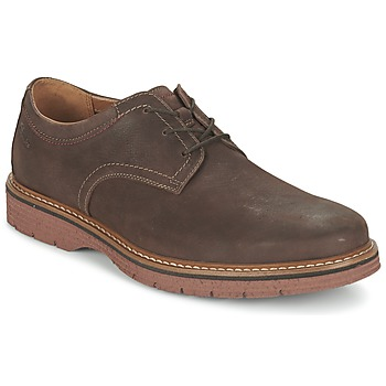 Schoenen Heren Derby Clarks NEWKIRK PLAIN Brown