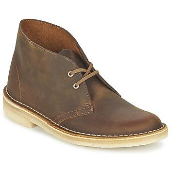 Schoenen Dames Enkellaarzen Clarks DESERT BOOT Brown
