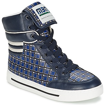 Schoenen Dames Hoge sneakers Marc by Marc Jacobs CUTE KIDS MINI TOTO PLAID Blauw / Multikleuren