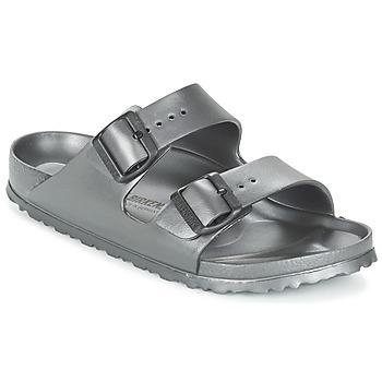 Schoenen Dames Leren slippers Birkenstock ARIZONA-EVA Grijs