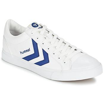 Schoenen Lage sneakers Hummel BASELINE COURT Wit / Blauw