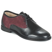 Schoenen Dames Derby M. Moustache EUGENIE Zwart / Bordeaux
