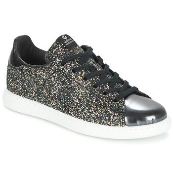 Schoenen Dames Lage sneakers Victoria DEPORTIVO BASKET GLITTER Zwart