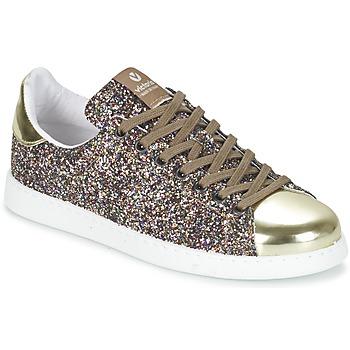 Schoenen Dames Lage sneakers Victoria DEPORTIVO BASKET GLITTER Multikleuren