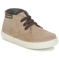 Schoenen Kinderen Hoge sneakers Victoria SAFARI SERRAJE KID TAUPE