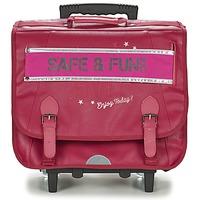 Tassen Meisjes Tassen / Schooltassen op wieltjes Ikks HAPPY TROLLEY CARTABLE 41CM Roze