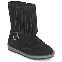Schoenen Meisjes Laarzen Geox NOHA Zwart