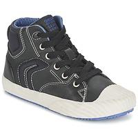 Schoenen Jongens Hoge sneakers Geox ALONISSO BOY Zwart / Blauw