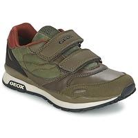Schoenen Jongens Lage sneakers Geox PAVEL Groen / Orange