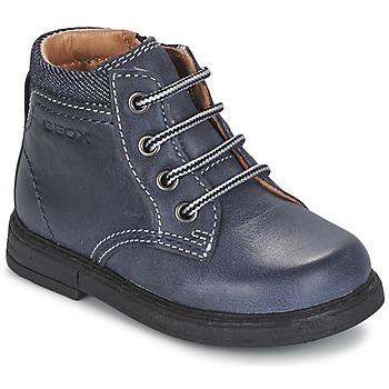 Schoenen Jongens Laarzen Geox B GLIMMER Blauw