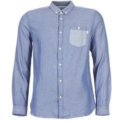 Textiel Heren Overhemden lange mouwen Tom Tailor INIDULLE Blauw