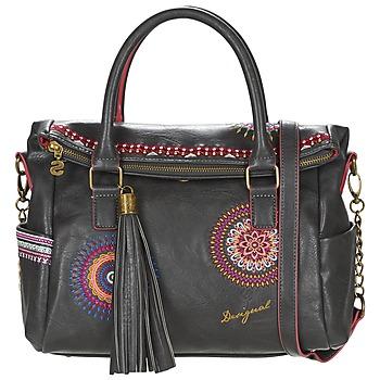 Tassen Dames Handtassen kort hengsel Desigual LIBERTY  GRETA Zwart / Multikleuren