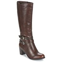 Schoenen Dames Hoge laarzen Moony Mood FARANDO Brown