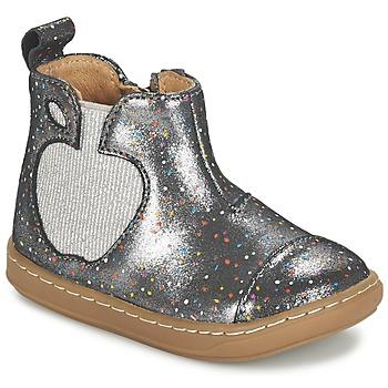 Schoenen Meisjes Laarzen Shoo Pom BOUBA APPLE Zilver