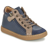 Schoenen Kinderen Hoge sneakers Shoo Pom PLAY HIBI ZIP Marine / Taupe
