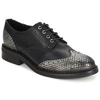 Schoenen Dames Derby Koah LESTER  zwart / Zilver