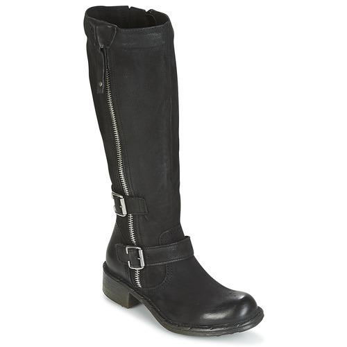 Schoenen Dames Hoge laarzen Dream in Green RAZINE Zwart