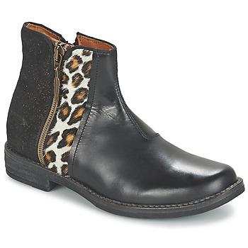 Schoenen Meisjes Laarzen Shwik TIJUANA WILD Zwart / Leopard
