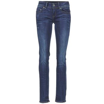 Textiel Dames Straight jeans G-Star Raw MIDGE SADDLE MID STRAIGHT Denim