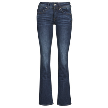 Textiel Dames Bootcut jeans G-Star Raw MIDGE SADDLE MID BOOTLEG Neutro / Stretch / Denim / Dk / Aged