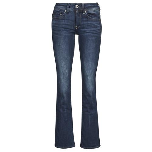 Textiel Dames Bootcut jeans G-Star Raw MIDGE SADDLE MID BOOTLEG Neutro / Stretch / Denim / Dk / Aged