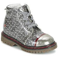 Schoenen Meisjes Laarzen GBB NEVA Grijs / Imprimé