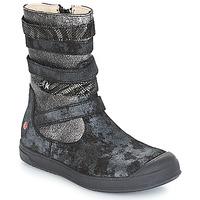 Schoenen Meisjes Hoge laarzen GBB NOURIA Zwart / Métallisé