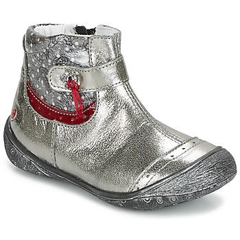 Schoenen Meisjes Laarzen GBB NYMPHE Grijs / Imprimé