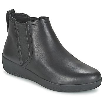 Schoenen Dames Laarzen FitFlop SUPERCHELSEA BOOT Zwart