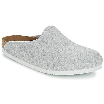 Schoenen Dames Leren slippers Birkenstock AMSTERDAM Grijs / CLAIR